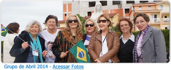 Grupo de Peregrinos da Peregrinação a Medjugorje em Abril de 2014